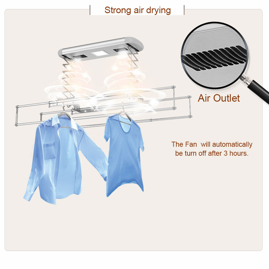 hanging clothes rack